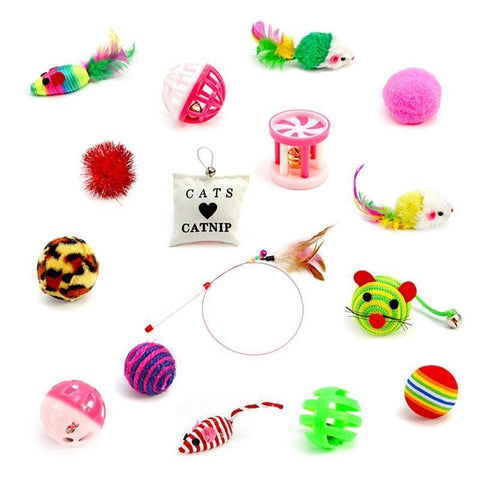 16 Pcs Cat Toy Set - Cute Cats Store