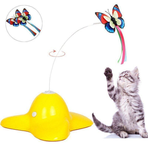 Image of Spinning Butterfly Cat Toy - Cute Cats Store