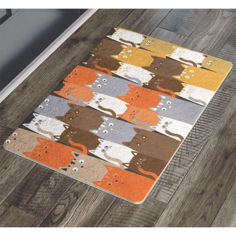 Image of Doormat Multi - Cute Cats Store