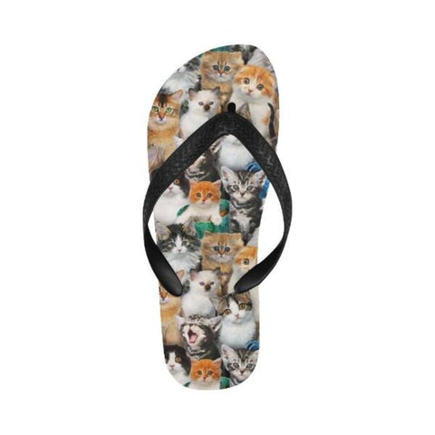 Image of cat lover flip flops - Cute Cats Store