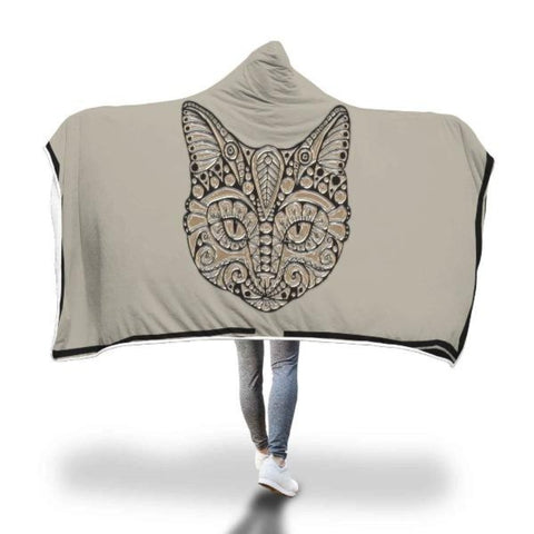 "Hooded Blanket Adult 80""x55"" - Cute Cats Store"