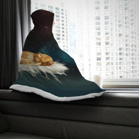 Image of Cat design hooded blanket - Cute Cats Store