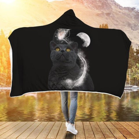 cat lover hooded blanket - Cute Cats Store