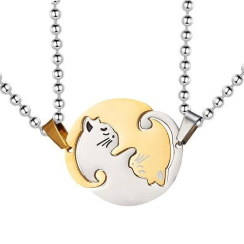 cat friendship necklace - Cute Cats Store