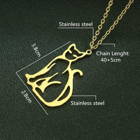 Image of cat shaped necklace - Cute Cats Store