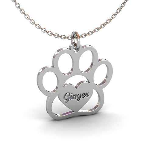 Image of cat paw necklace - Cute Cats Store