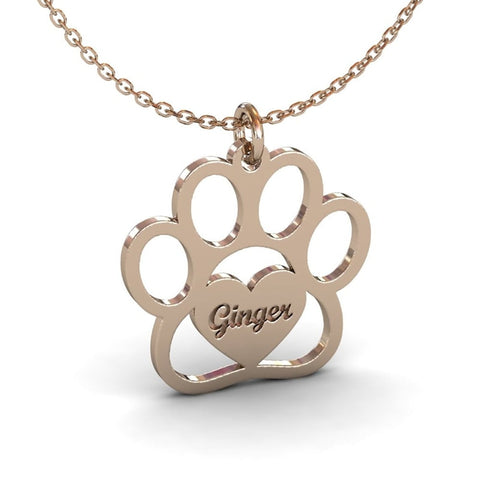 cat paw print necklace - Cute Cats Store