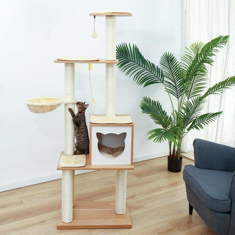 Image of Cat House Scratching Post - Cute Cats Store