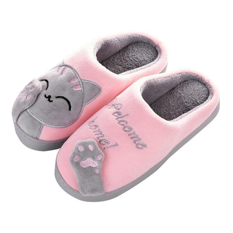 Image of winter cute cat slippers - Cute Cats Store