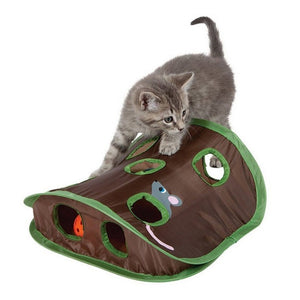 Cat Toy Hide And Seek Mouse Tent With Holes Interactive Cat Toys