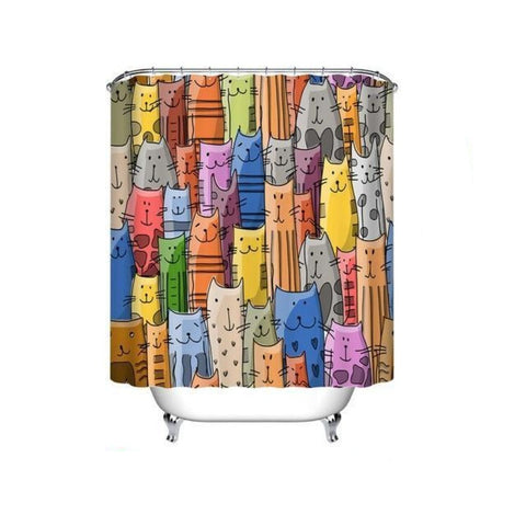 Image of cat Shower Curtain - Cute Cats Store