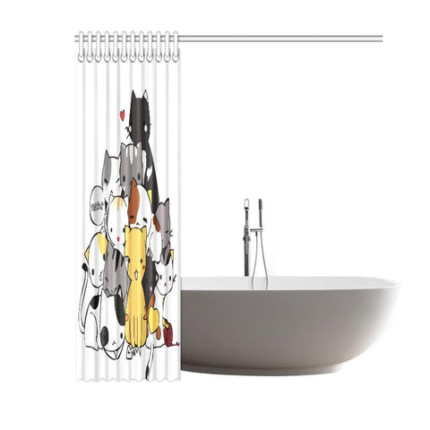 cat print shower curtains - Cute Cats Store