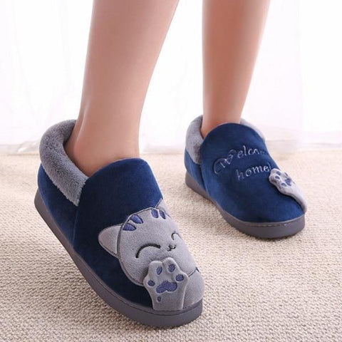 Slippers Men 1 / EUR 41/US 10.5 / Blue/Gray - Cute Cats Store