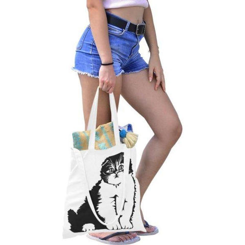 Image of canvas tote bag - Cute Cats Store