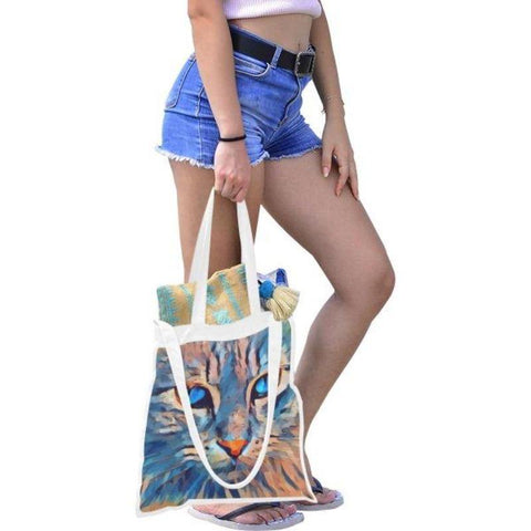 Image of cat reusable shopping bag - Cute Cats Store