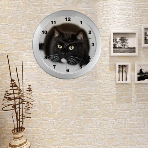 Image of black cat wall clock - Cute Cats Store