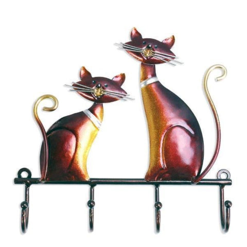 "Image of wall mounted hanger 20cmx3cmx19cm/7.9""x1.2""x7.5"" / Wine red - Cute Cats Store"