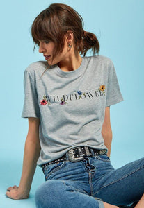 T-shirt Wildflower grey