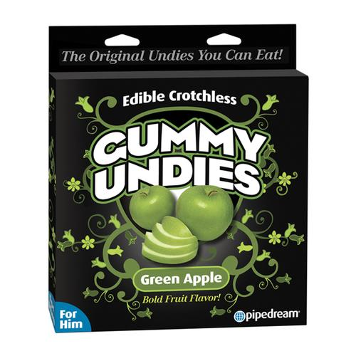 Edible Male Gummy Undies Green Apple