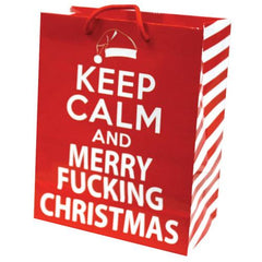 Keep Calm & Merry Fucking Christmas Gift Bag