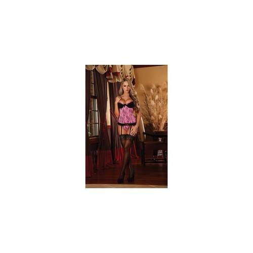 Baby Doll & G-string Set - Pink - Large - Extra Large