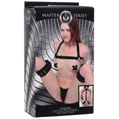 Master Series Acquire Easy Access Thigh Harness w/Wrist Cuffs - Black