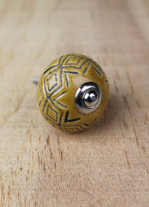Ceramic drawer knobs - desert sand