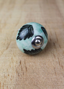 Ceramic drawer knobs - light mint aqua