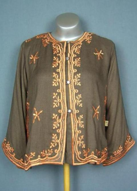70's embroidered light jacket