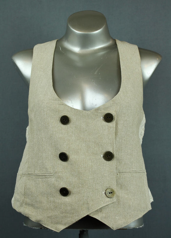 Hessian waist coat