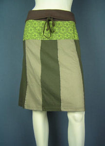 funky cotton jersey knee length skirt