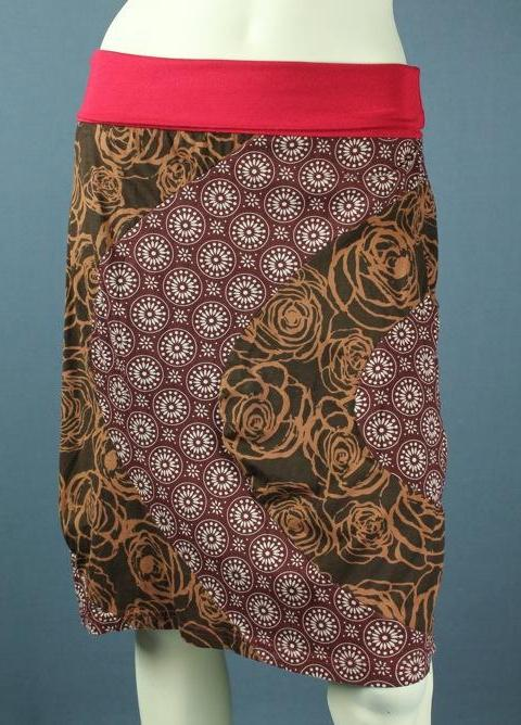 Rose mandela skirt