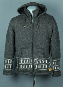 Wool jacket charcoal grey