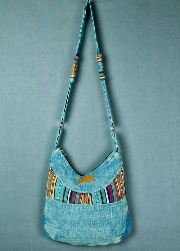 Stonewashed bag - blue