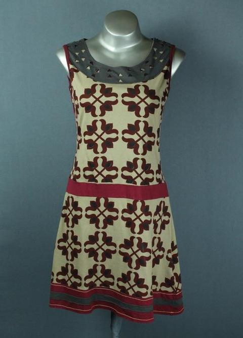 70's cotton short dress