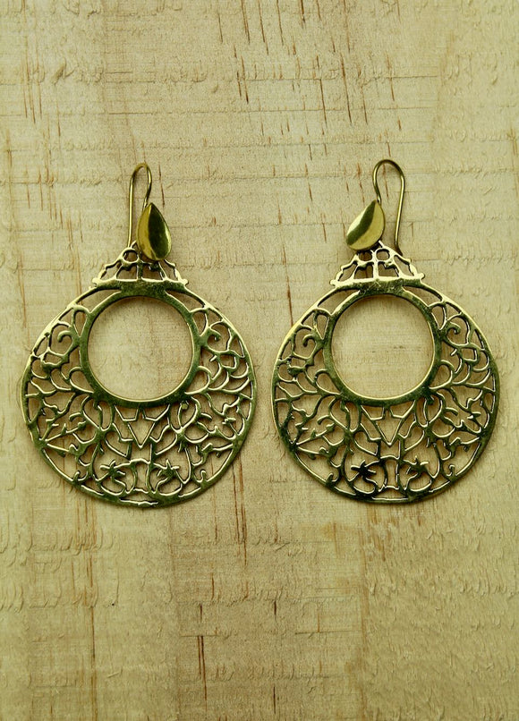 Brass earrings  #1