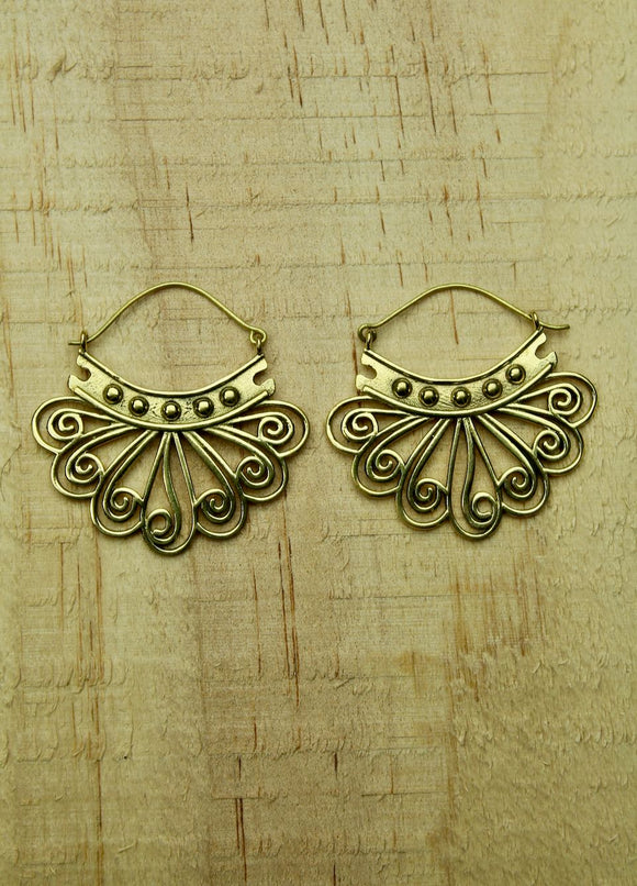 Brass earrings #2