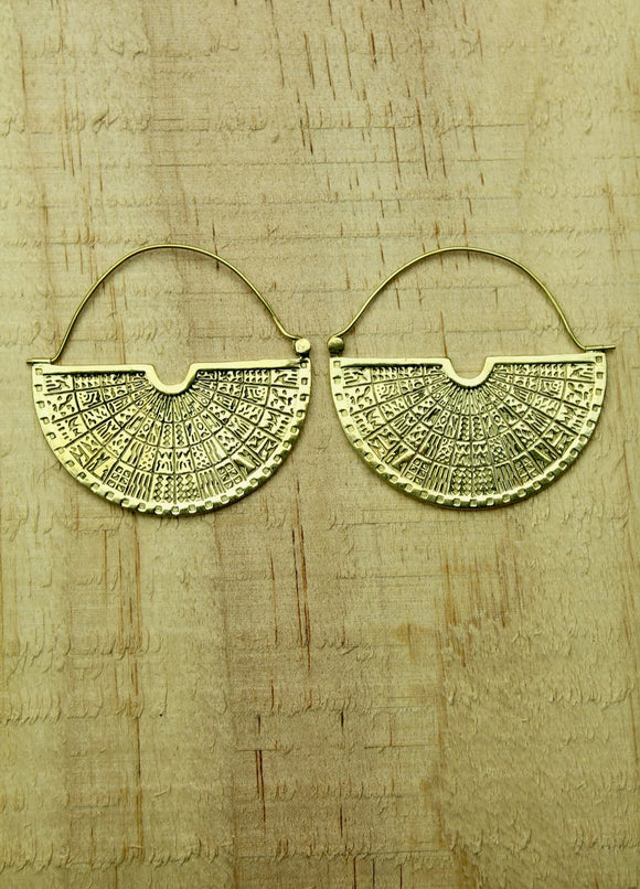 Brass earrings #3