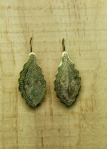 Brass earrings #8