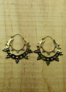 Brass earrings #10
