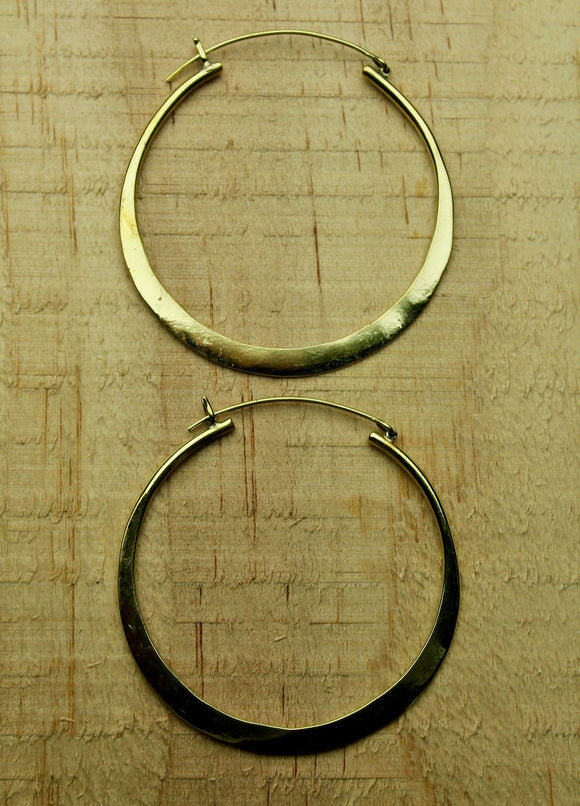 Brass earrings #13