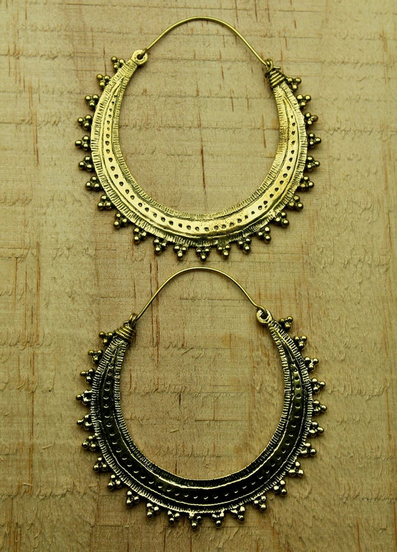 Brass earrings #12