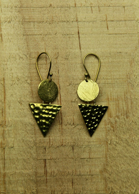 Brass earrings #17