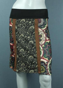 funky print knee length skirt