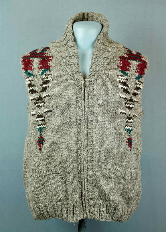 Hand Knitted wool vest