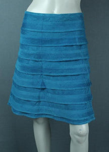 cord velvet knee length skirt