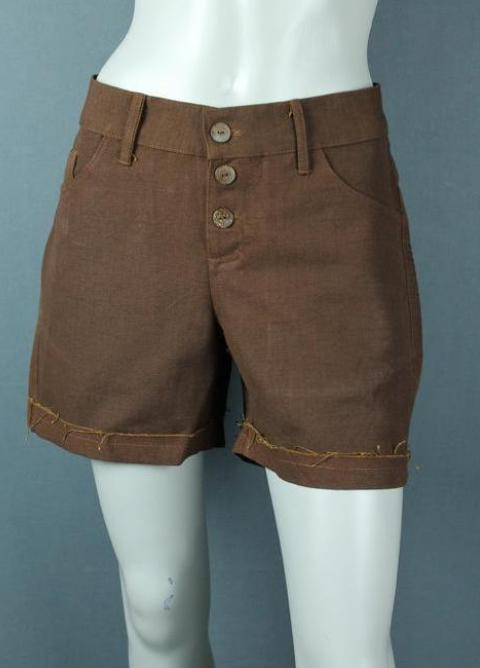 women canvas cotton shorts