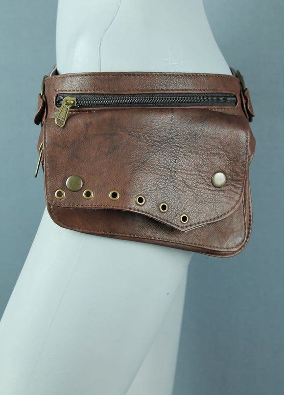 Leather Belt Bag Brown