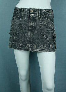 Stonewash mini skirt
