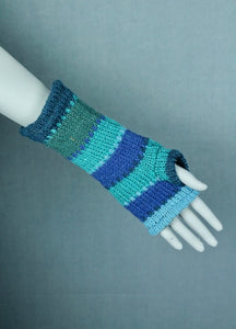 Wool knit arm warmers